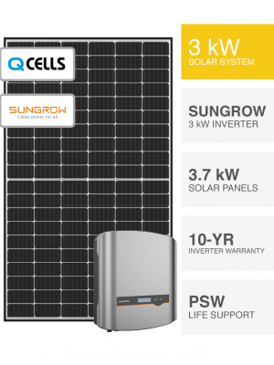 3kW QCells & Sungrow