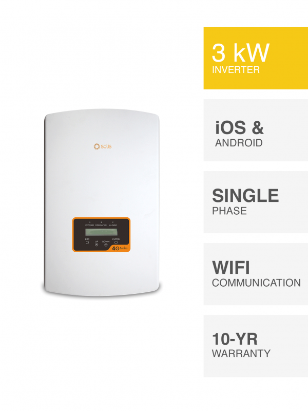 3kW Solis 4G Inverter by Perth Solar Warehouse