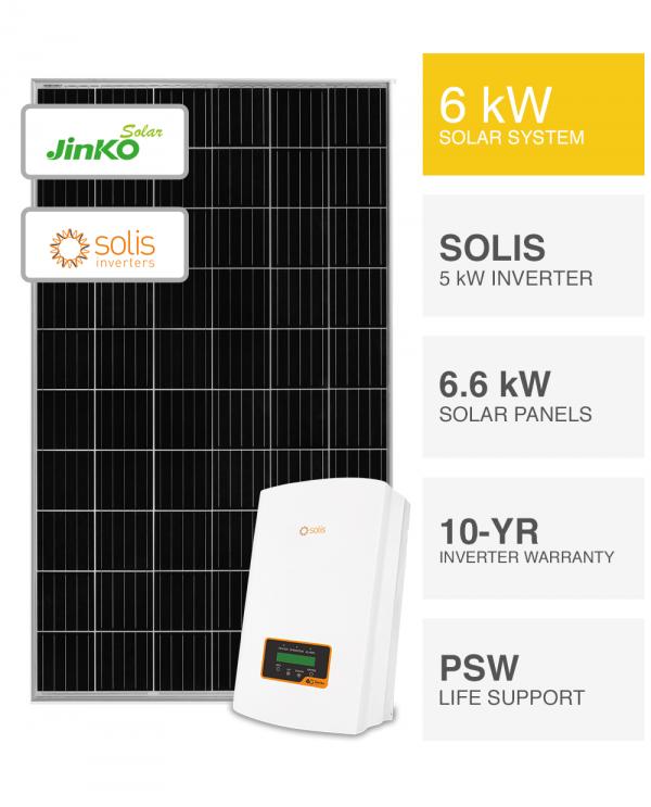 6kW Jinko solar & Solis Inverter Solar System By Perth Solar Warehouse