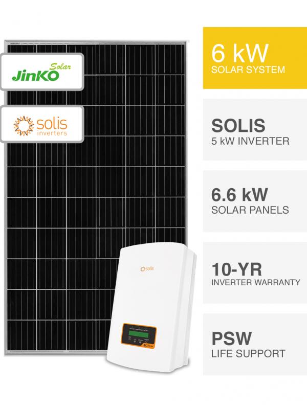 6kW Jinko solar & Solis Inverter Solar System