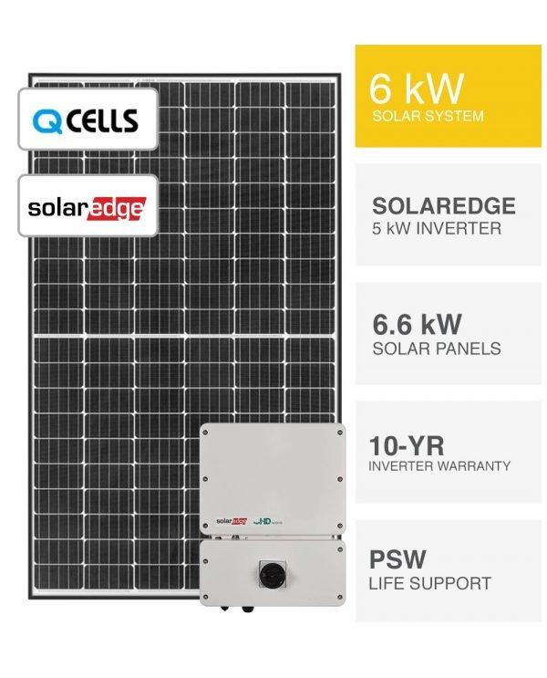 6kW QCELLS & SolarEdge Solar System