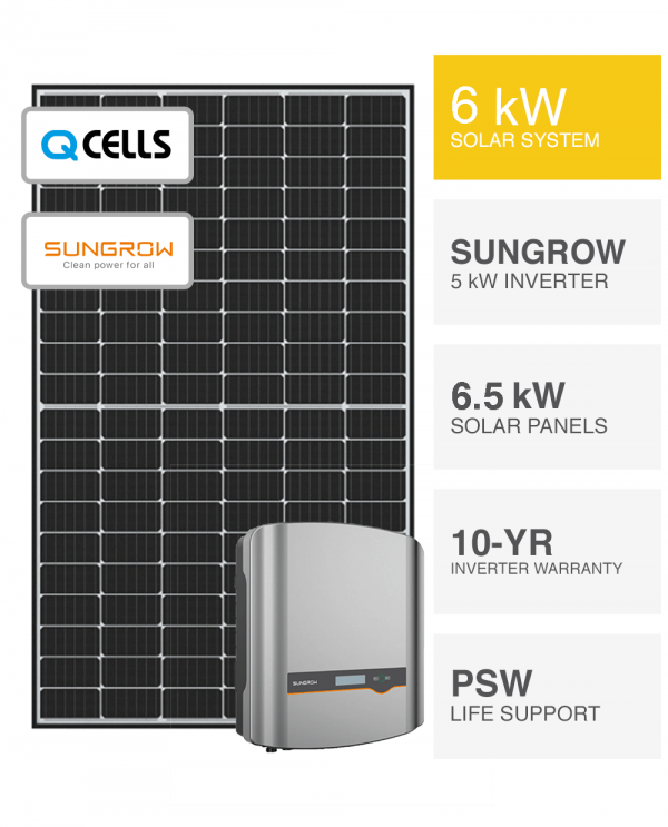 6kW QCells & Sungrow Solar System