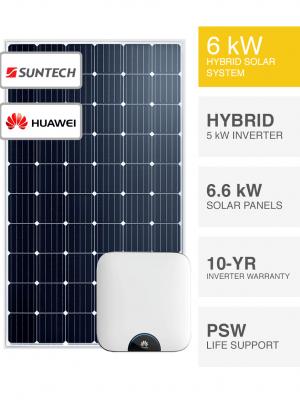 6kW Suntech & Huawei Hybrid Solar System
