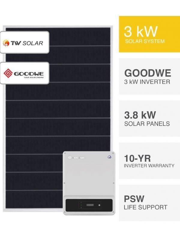 3kW TW Solar & Goodwe Solar System