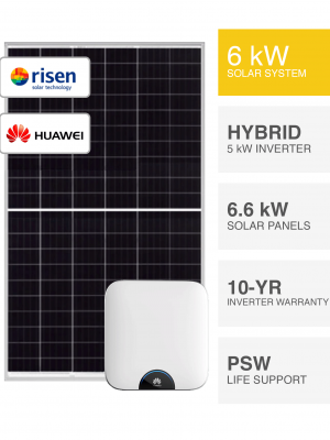 6kW Risen & Huawei Solar System