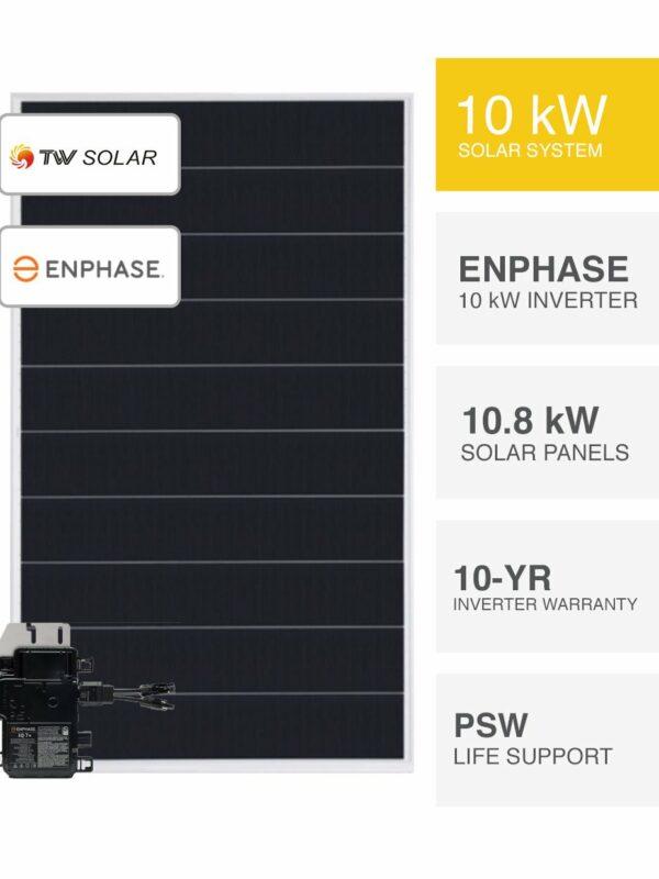 10kW Enphase & TW Solar System