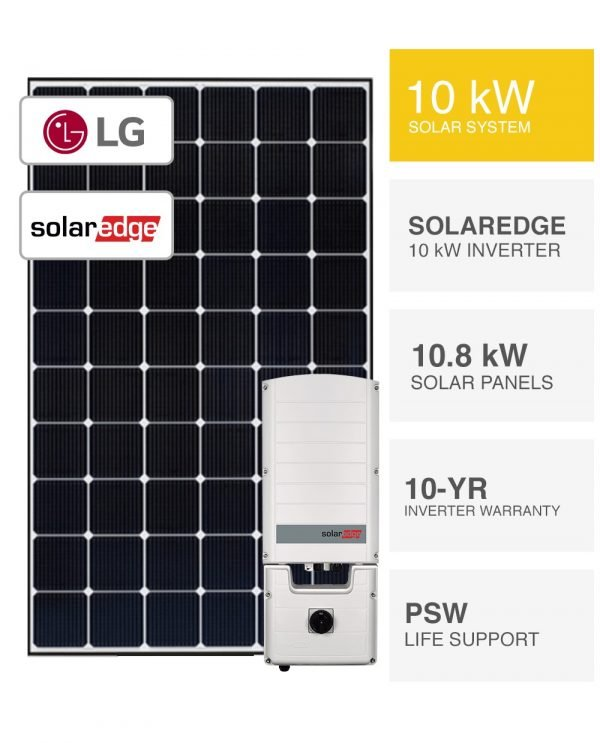 10kW LG & SolarEdge Solar System-Packages