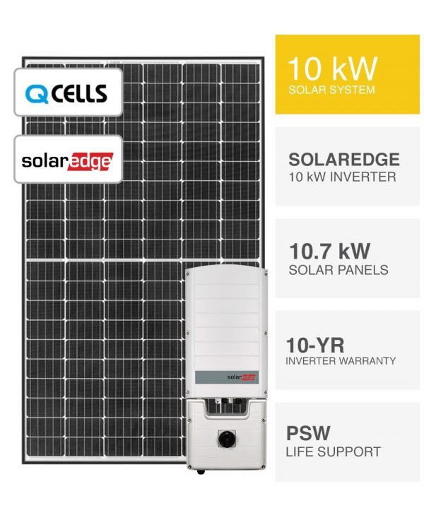 10kW QCELLS & SolarEdge Solar System-Packages