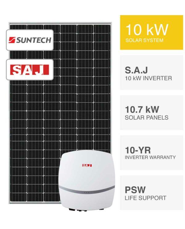 10kW Suntech & SAJ solar system by PSW Energy