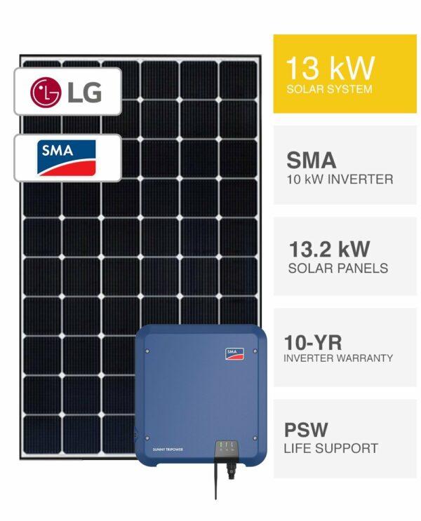 13kW LG & SMA Solar System