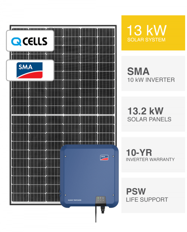 13kW-QCELLS-&-SMA-Solar-System-Packages