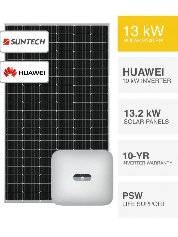 13kW Suntech & Huawei Solar System