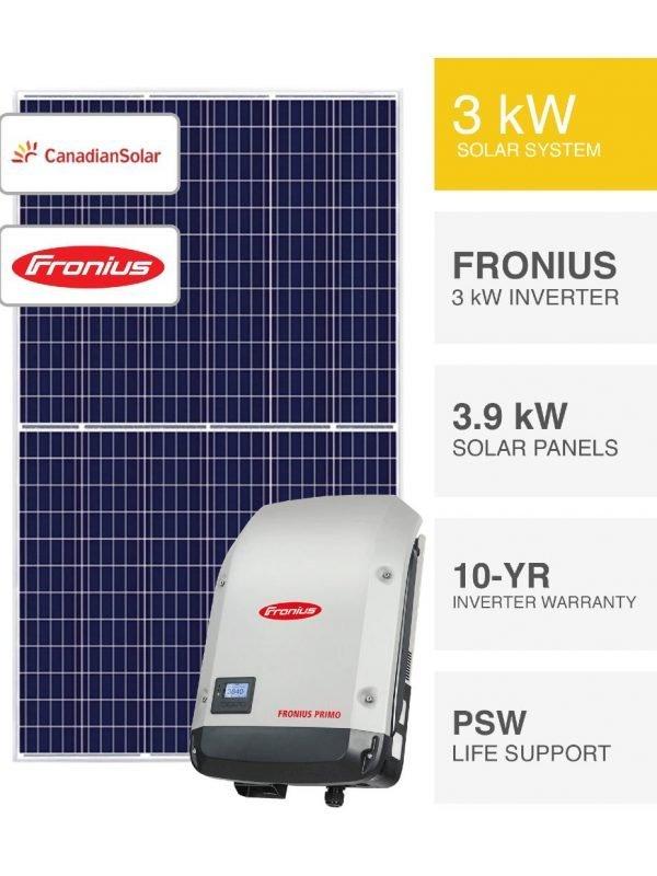 3kW Canadian & Fronius Solar System