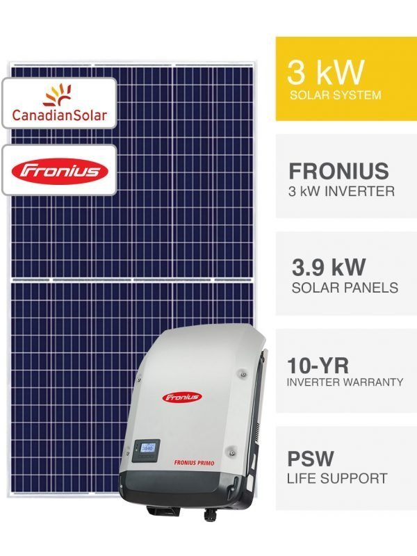 3kW Canadian Solar & Fronius Solar System by PSW Energy