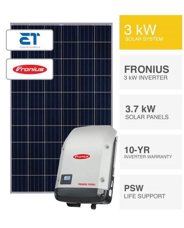 3kW ET and Fronius Solar System