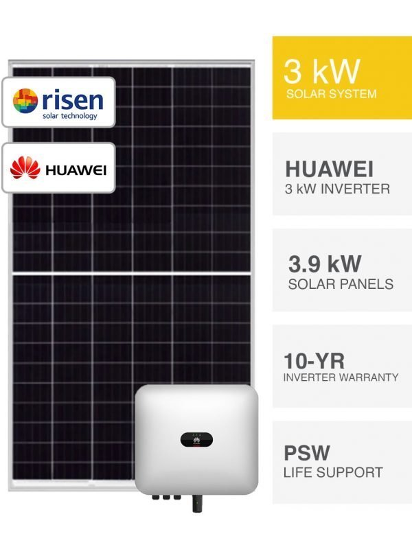 3kW Risen & Huawei Solar System by PSW Energy