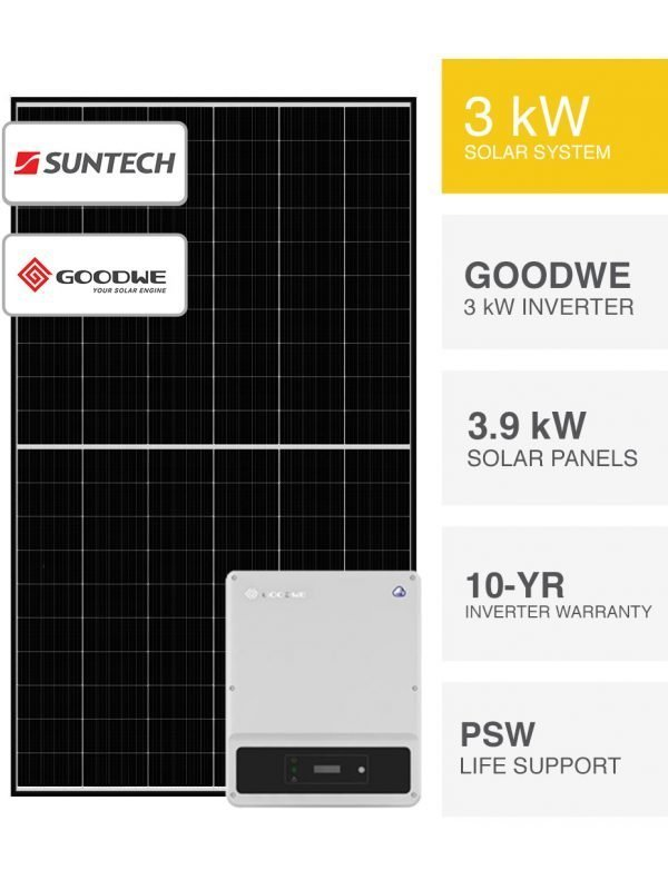3kW Suntech & Goodwe Solar System by PSW Energy
