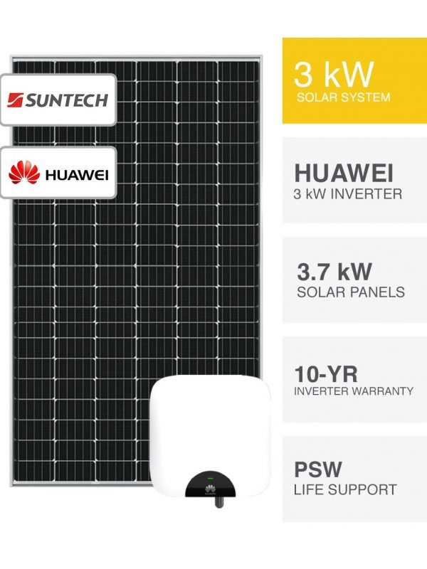 3kW Suntech & Huawei Solar System