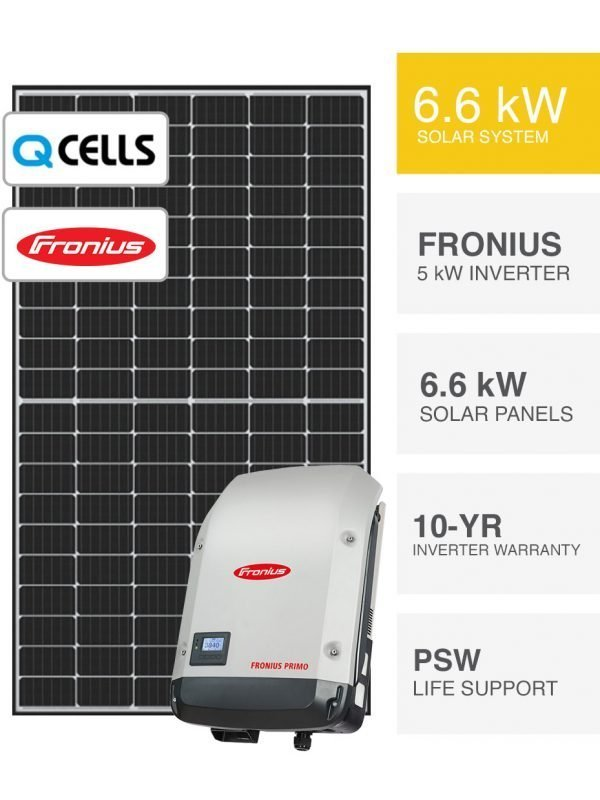 6.6kW QCells & Fronius Solar System by PSW Energy