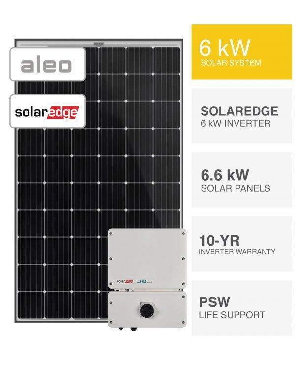 6kW Aleo & Solaredge Solar System