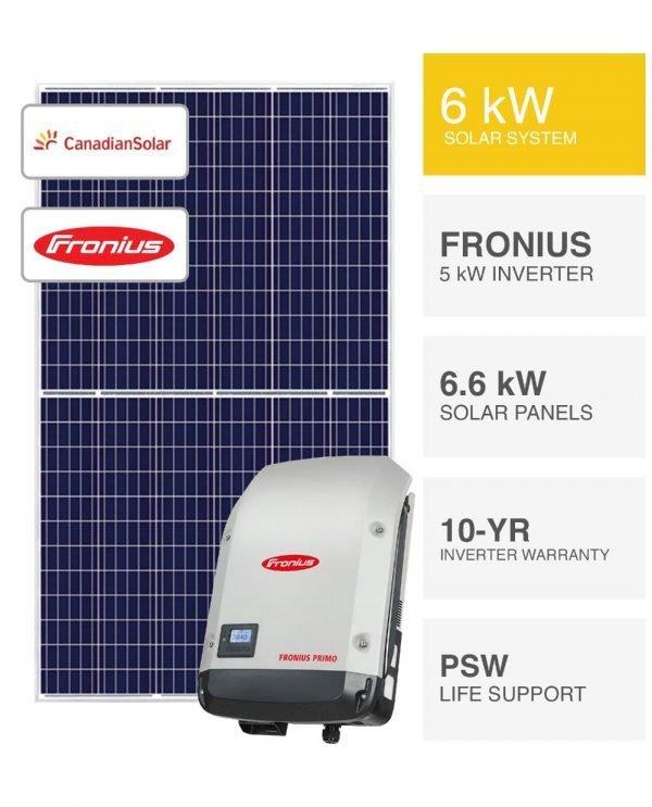 6kW-Canadian & Fronius Solar System