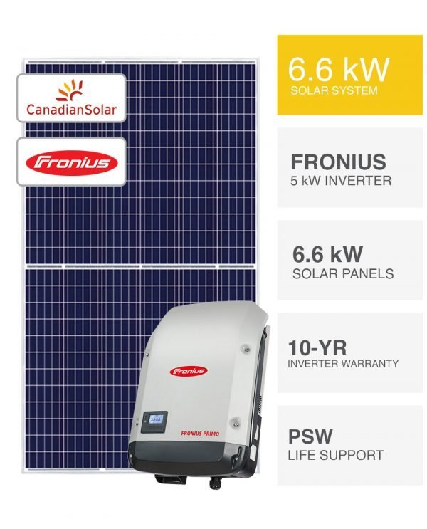 6.6kW Fronius and Canadian Solar System by PSW Energy
