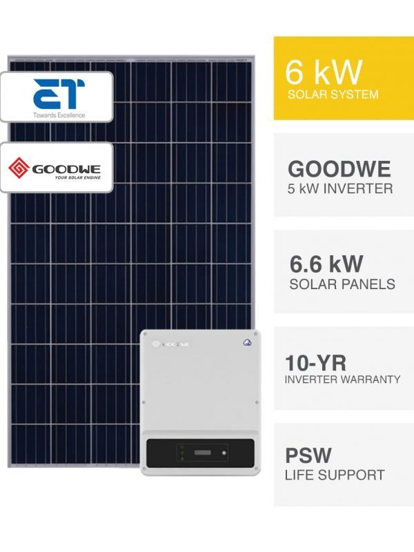 6kW ET Solar and Goodwe Solar System by PSW Energy