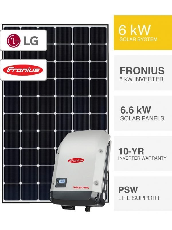 6.6kW LG Solar System Packages