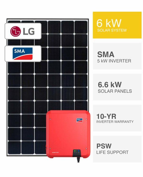 6kW LG & SMA Solar System