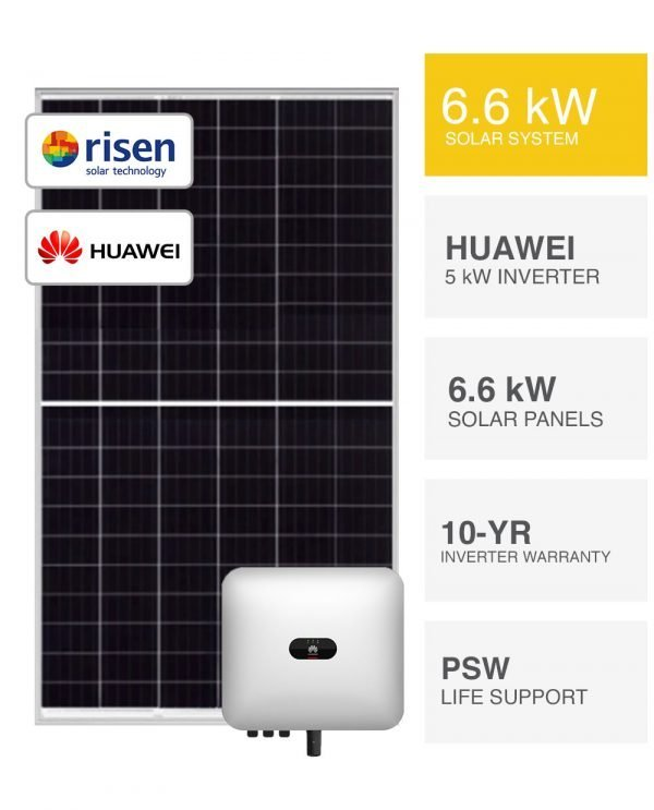 6kW Risen & Huawei Solar System by PSW Energy