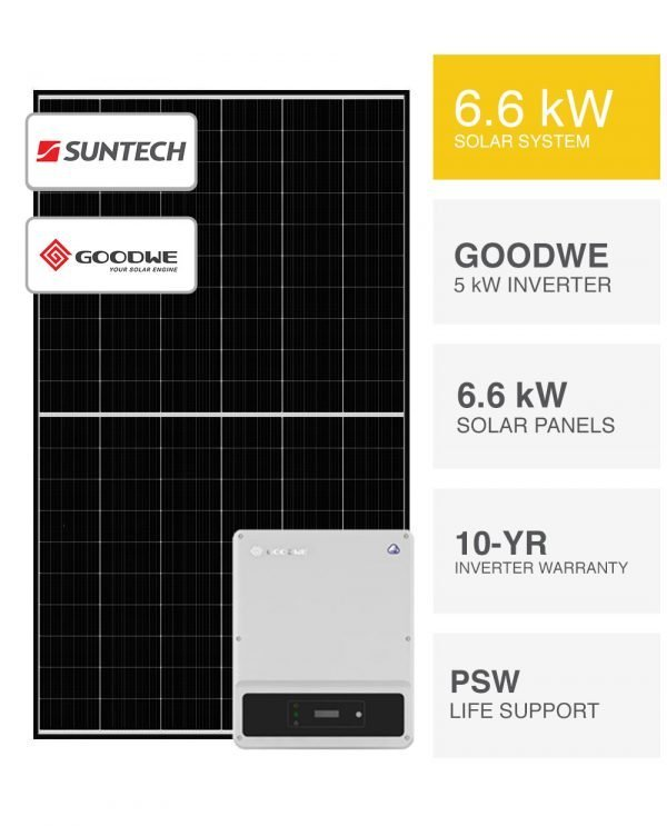 6.6kW Suntech & Goodwe Solar Sytem by PSW Energy