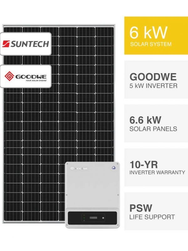 6kW Suntech Goodwe Solar System by PSW Energy