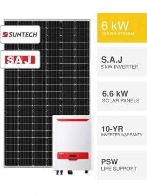 6kW Suntech & S.A.J Solar System