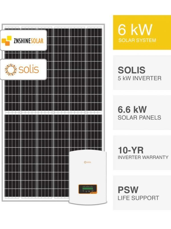 6kW Znshine & Solis Solar System by PSW Energy