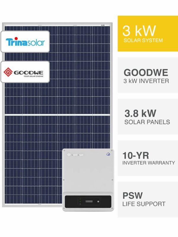3kW Goodwe & Trina Solar System by PSW Energy