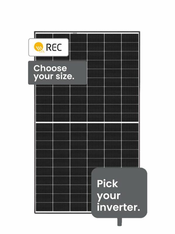 REC Solar energy system 10-13 kW