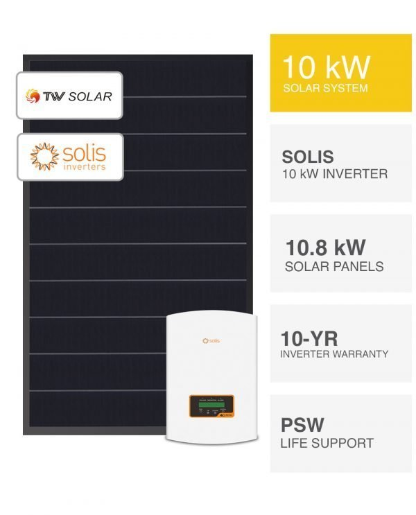 10kW Clearance Solar System with Solis 4G Series by PSW Energy