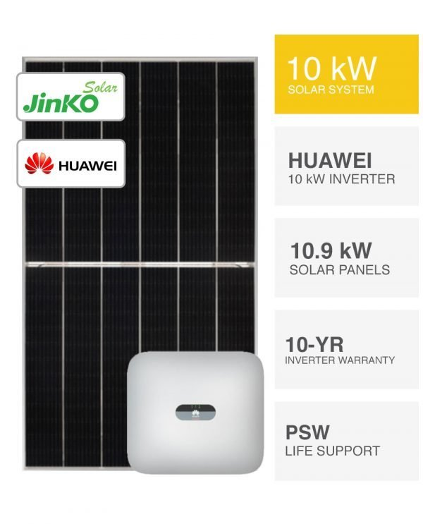 10kW Jinko Tiger Huawei Solar System by PSW Energy