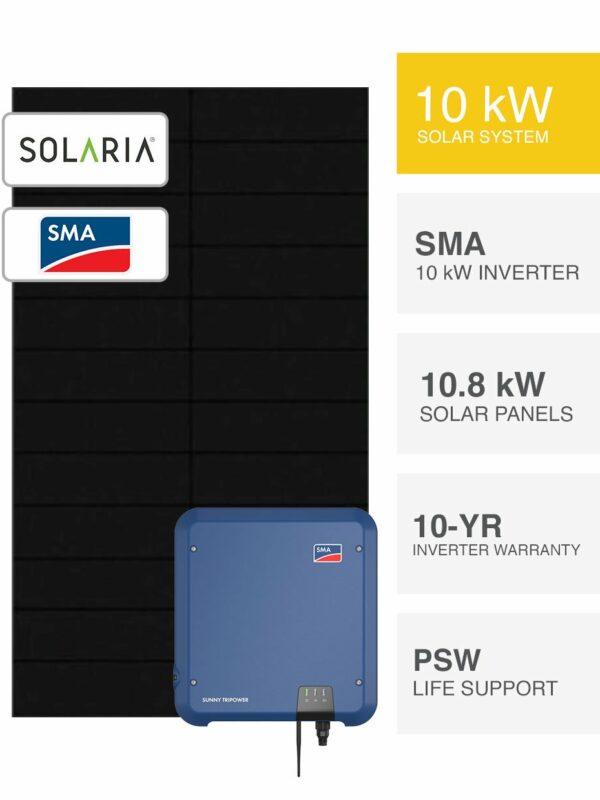 10kW Solaria Solar & SMA System by PSW Energy