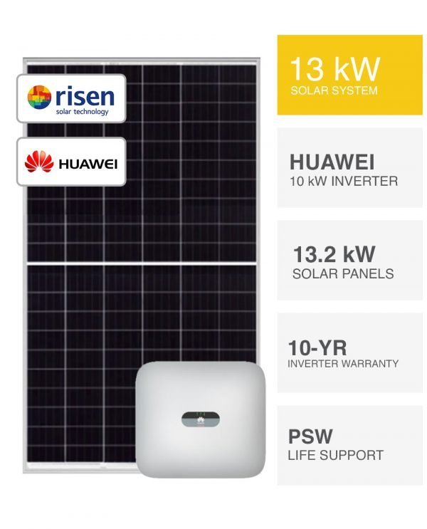 13kW Risen & Huawei Solar System by PSW Energy