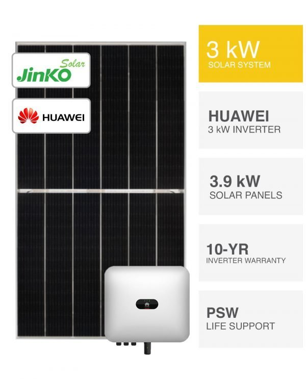 3kW Jinko Tiger & Huawei Solar System by PS Energy
