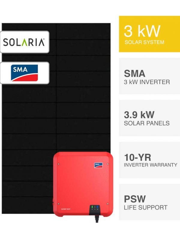 3kW Solaria & SMA Solar System by PSW Energy