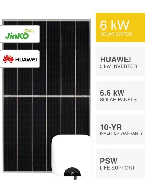 6kW Jinko Solar & Huawei By PSW Energy