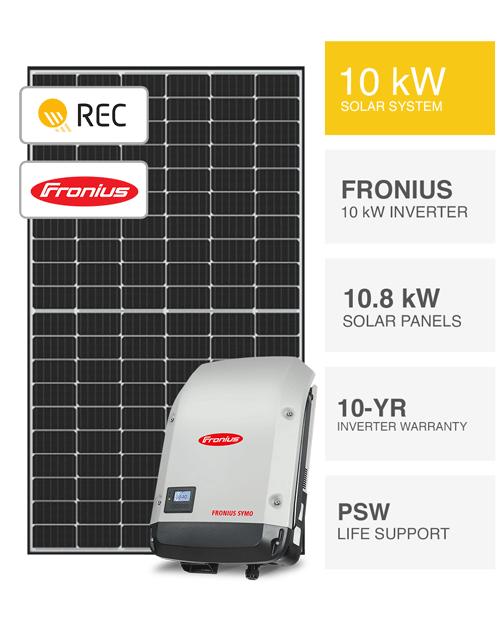 10kW REC & Fronius Solar System by PSW Energy