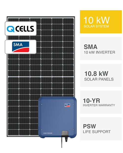 10kW SMA & QCells Solar System by PSW Energy