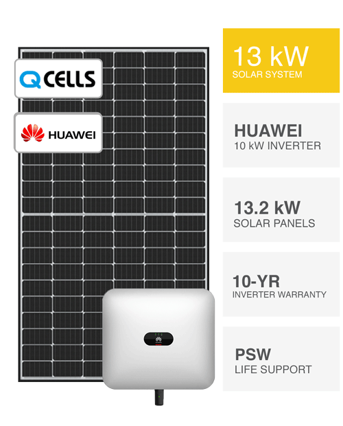 13kW QCells & Huawei Solar System by PSW Energy