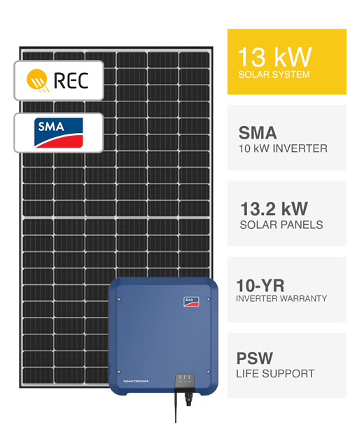 13kW REC & SMA Solar System by PSW Energy