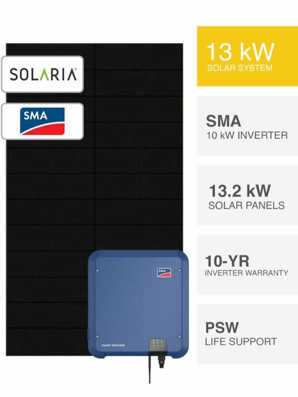 13kW Solaria & SMA Solar System by PSW Energy