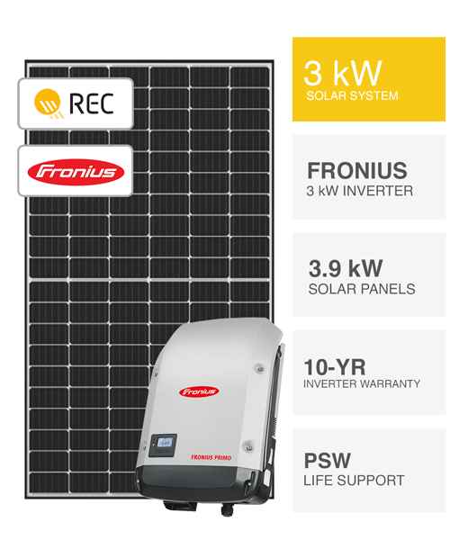 3kW REC & Fronius Solar System by PSW Energy