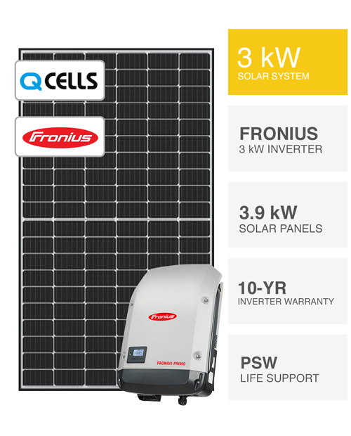 3kW QCells & Fronius Solar System by PSW Energy